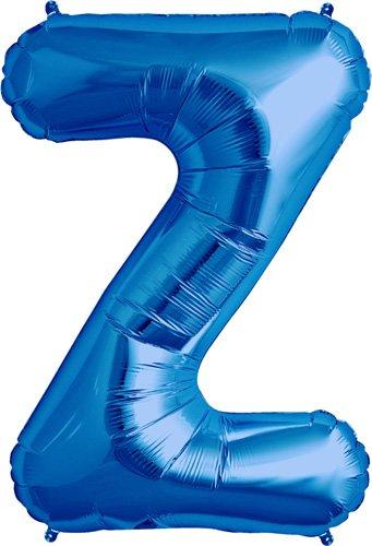 Letter Z - Blue Helium Foil Balloon - 34 inch