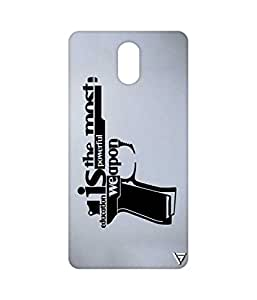 Vogueshell Education is Weapon Printed Symmetry PRO Series Hard Back Case for Lenovo Vibe P1M
