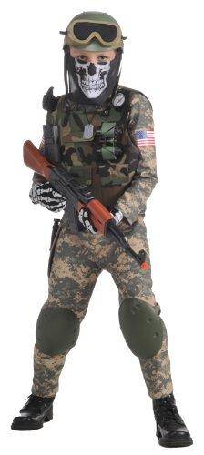 Deluxe Child Camo Trooper Costume, Medium