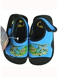 Light Blue Digital Batman Foam Sole Sandal (Size 7/8)