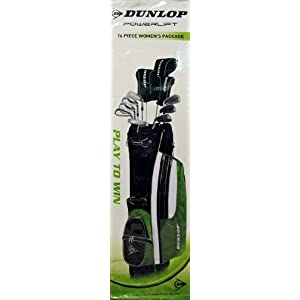 Dunlop GREEN/BLACK W GOLF SET 16PC DUNLOP PWRLFT PKG - ADULT