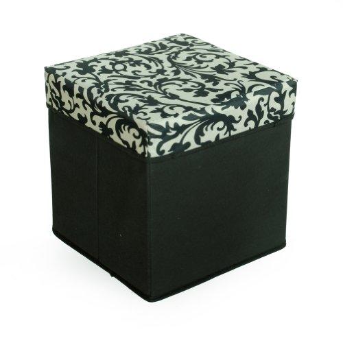 [Floral Print] Square Foldable Storage Ottoman / Storage Boxes / Storage Seat