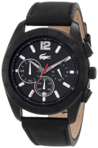 Lacoste Panama Black Dial Black Nylon Strap Mens Watch 2010609