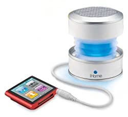 iHome iHM61 Rechargeable Color Changing Mini Speaker (White)