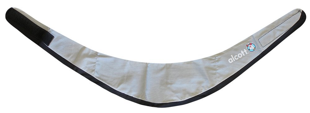 Alcott Explorer 14-Inch to 20-Inch Cooling Bandana, Medium, Grey and Black