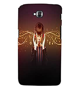 LG G PRO LITE MUSIC GIRL Back Cover by PRINTSWAG