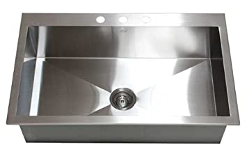 "36"" x 22"" Single Bowl Kitchen Sink"