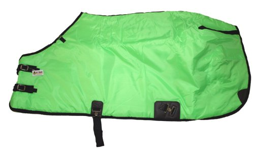 "420D Medium Weight Horse Blanket Lime Green, 66"" front-500723"