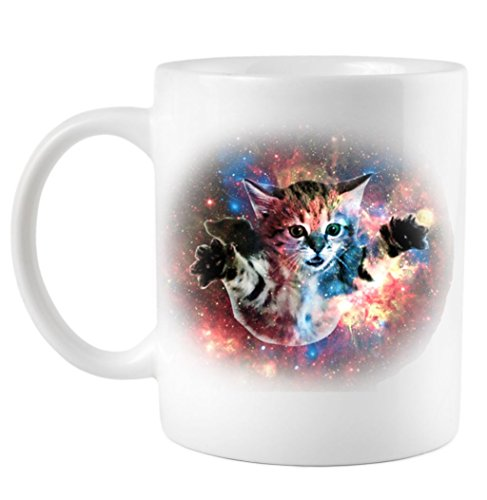 Coffee Mug: Funny Cat Floating In Space CFMTPCFS515145