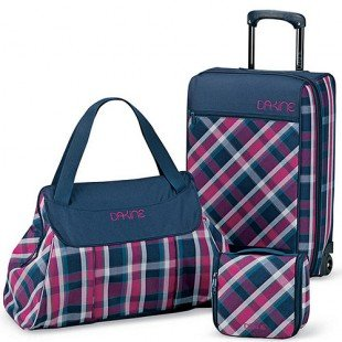 Dakine Jet Setter 3 Piece Luggage Collection - Vivienne Plaid/Navy