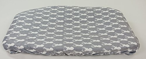 Changing Pad Cover For Baby Boys & Girls By Danha - 100% Soft, Ultra-Plush Polyester - Universal, Elastic Trim Edges Design - Unisex Deer Head Patterns - Stain Resistant & Machine Washable (Modern Changing Pad Cover compare prices)