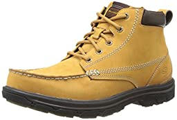Skechers USA Men\'s Segment-Barillo Chelsea Boot,Wheat Leather,10.5 M US