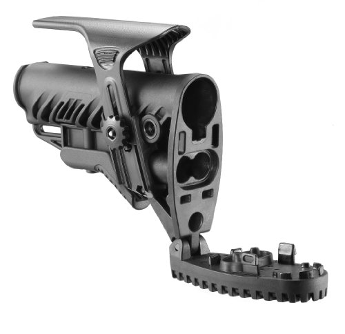 Mako M4/AR-15 Stock with Internal Shock Absorber and Adjustable Cheekpiece (Black)