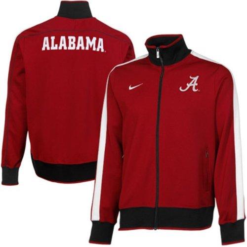 Alabama Crimson Tide Nike Mens College Full Zip Track Jacket - Crimson (Med)