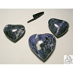 Shaped Hearts in Sodalite (250 grams pack)