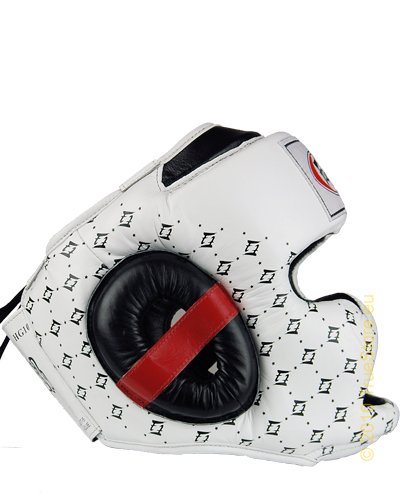Fairtex Headguard Spuer Sparring HG10, black / white, XL