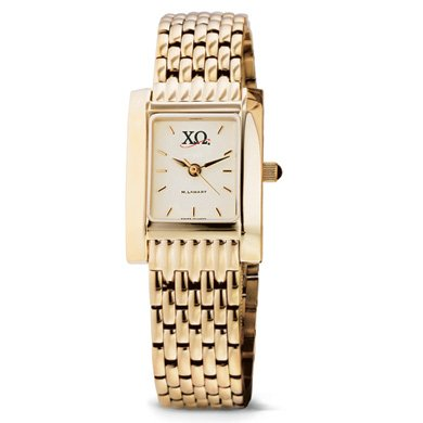 Chi Omega Women's Gold Quad Watch with Bracelet (Chi Omega Watch compare prices)