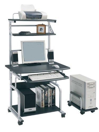 SixBros. Office - Scrivania porta pc con ruote nero/grigio scuro CT-7800AF/51