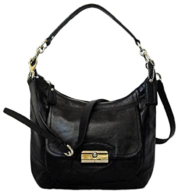 Coach Kristin Black Leather Hobo Bag 19293: Handbags