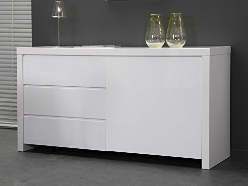 Sideboard-Kommode-Lack-wei-150x80-3Schbe-Hochglanz