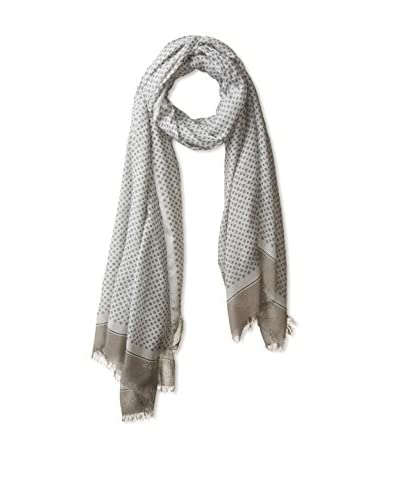 Gucci Men's Patterned Scarf, Grey
