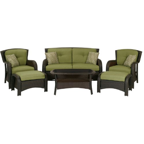 Hanover OSST-6PC-CU-GL Strathmere 6-Piece Patio Seating Set photo