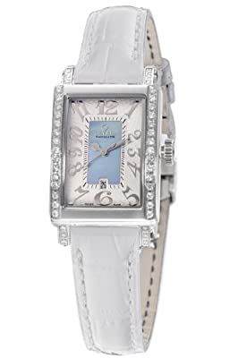 Gevril Women's 8247NE.1 Blue Mother-of-Pearl Genuine Alligator Strap Watch