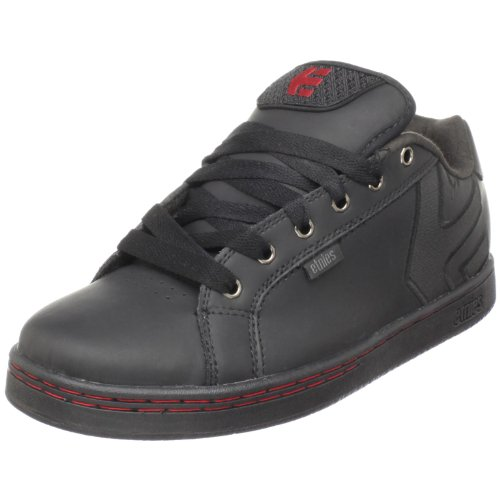 Etnies Men's Fader Skate Shoe,Black/Black/Red,7 M US