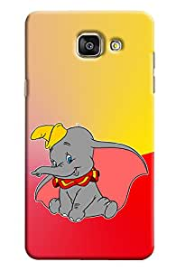 Blue Throat Cute Little Elephant Printed Designer Back Cover For Samsung Galaxy A7 2016
