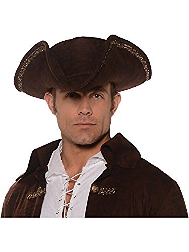 [Pirate Hat - Brown] (Diy Jack Sparrow Costume)