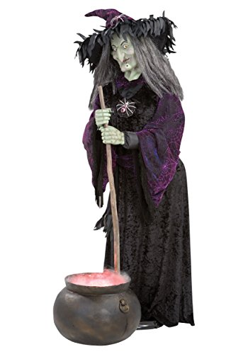 Life size animated witch halloween decoration ideas for for Animated halloween decoration