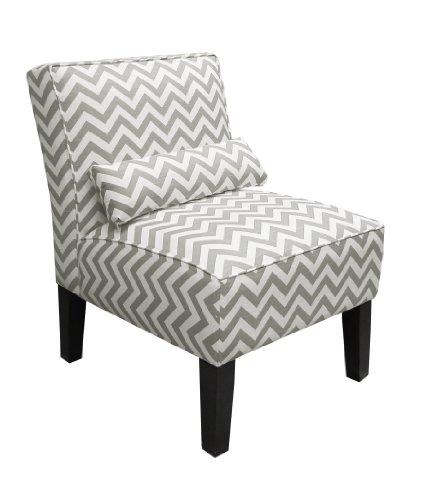 Pleasant Check Price Skyline Furniture Armless Chair In Zig Zag Grey Spiritservingveterans Wood Chair Design Ideas Spiritservingveteransorg