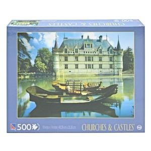 "TCG - 500 Piece - 19"" x 14"" - ""Chateau Azay-le-Rideau"" - Churches & Castles Series - SURE-LOX 