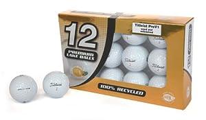 Second Chance Premium Titleist Pro V1 12 balles de golf recyclées de catégorie A Gold box