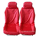 Land Rover Freelander 2 (All Models) Waterproof Car Seat Covers - Front Pair - Red