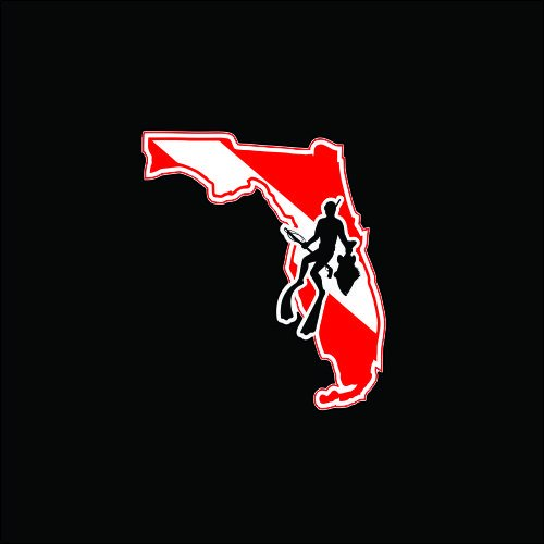 Florida Spearfishing Diver Decal sticker! for scuba divers (Fishing Company Stickers compare prices)
