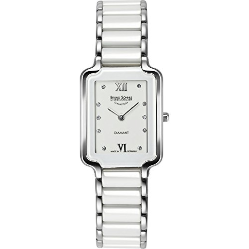 Bruno Söhnle Women's Quartz Watch with Silver Algebra Analogue Quartz Ceramic 17-93078-232