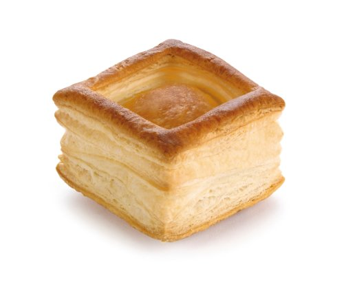 Pidy Bouchee Square Shape Puff Pastry Shell Golden Brown Colour 48 Pieces
