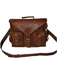 Latest Genuine Browm Leather Office Laptop And Messenger Bag For Boys/Girls