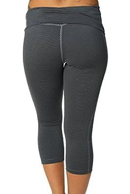 Nike Women's Dri-Fit Legend 2.0 Stripe Training Capris-Blue/Gray