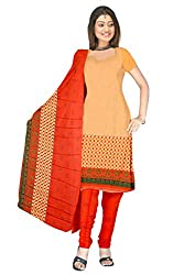 Shopeezo Beige Colored Micro Cotton Printed Dress Material