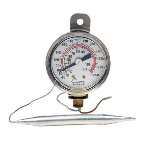 Cooper-Atkins 6642-12-3 Vapor Tension Panel Thermometer With Strap Hanger On Flange, Nsf Certified, 40/240°F Temperature Range