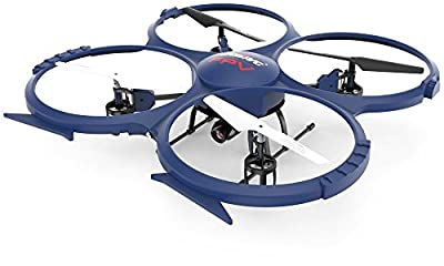 Toy Thrill Multifunctional Wifi Quadcopter Drone: UDI RC UAV with 2.4GHz HD Camera & FPV Video- Headless Mode, 6 Axis Gyro, VR Headset Compatibility- BONUS 3 Batteries Included - Blue from ToyThrill