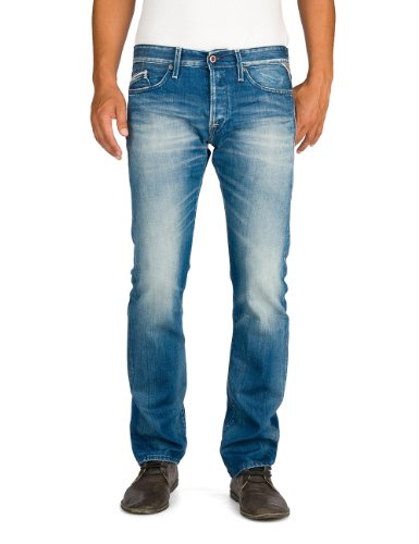 Replay Herren Straight Leg Jeanshose Waitom, Gr. W31/ L32 (Herstellergröße: 31), blau (Blue Denim) thumbnail