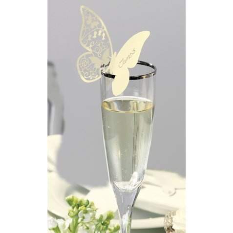 Talking Tables Something in The Air Butterfly Place Cards, Pack of 10, Ivory