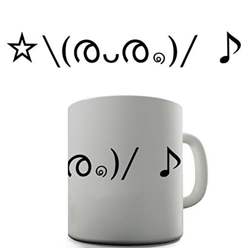 Emoji Cute Face Music Funny Design Novelty Gift Tea Coffee Office Mug