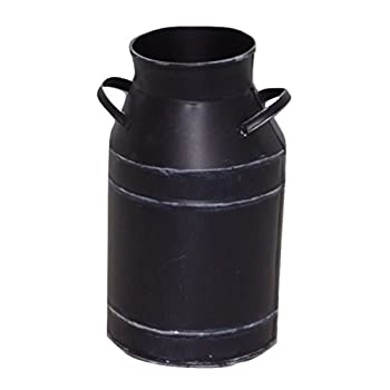 Large Antique Black Milk Can