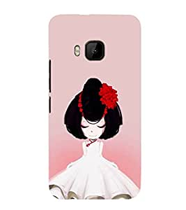 iFasho Girl with Flower in Hair Back Case Cover for HTC One M9