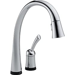Delta 980T-DST Pilar Single Handle Pull-Down Kitchen Faucet with Touch2O Technology, Chrome by Delta Faucet