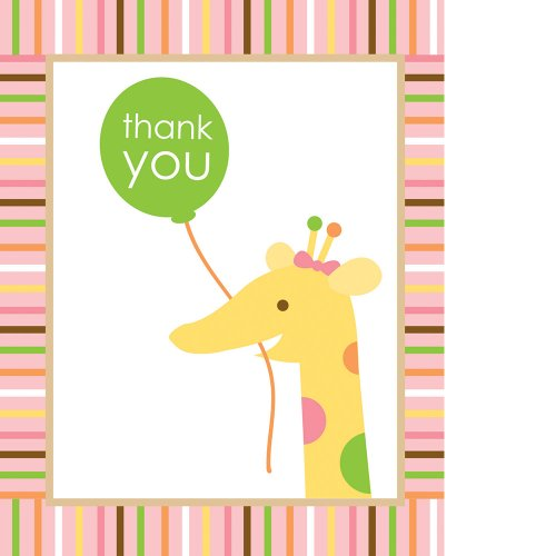 Creative Converting Sweet at One Girls Thank You Notes, 8 Count